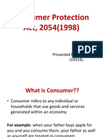 Consumer Protection Act, 2054(1998)