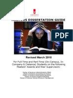 Dissertation Handbook 2017 2018