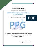 Rekap Soal Formatif & Sumatif Kompetensi Profesional Penjaskes
