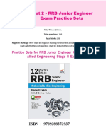 Disha Publication Practice Sets for RRB Junior Engineer Mechanical Allied Engineering Stage II Exam. CB1198675309