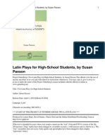 Two Latin Plays for High-Sch