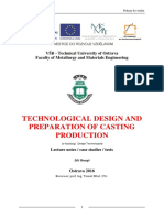 Technological Design and Preparation of Casting Production