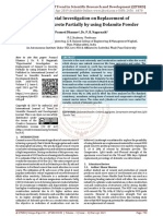 Experimental Investigation on Replacement of Cement in Concrete Partially by using Dolamite Powder