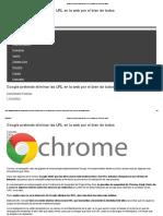 Google Pretende Eliminar Las URL en La Web Por El Bien de Todos