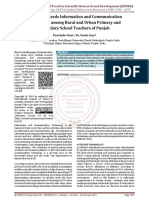 Attitude towards Information and Communication Technology among Rural and Urban Primary and Secondary School Teachers of Punjab