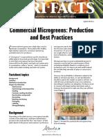 microgreens production basic