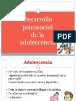 Desarrollo Psicosocial de a Adolescencia