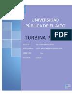 Informe Turbina Pelton