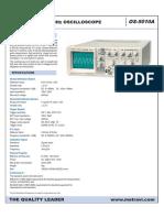 Metravi Analog Oscilloscope Ds
