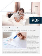 Top Cryptocurrency Research Paper