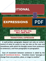 transitional expression