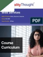 QT Web Services- Course Content