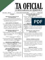 Gaceta Oficial 41652 Sumario