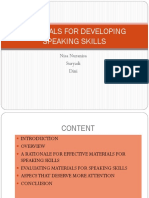 Ppt Materials for Developing Speaking Skills