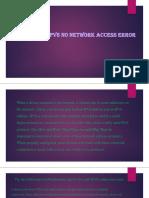 How to Fix an IPv6 No Network Access Error