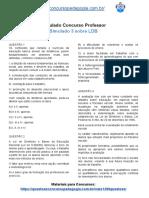 Simulado Concurso Professor - Simulado 3 sobre LDB