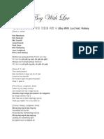 Boy With Luv( Lyrics + Fanchant)
