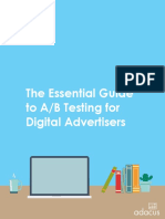 Guia de Marketing eBook Essential Guide a-B Testing Digital Advertisers 2017-01