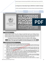 Advertisement of HEC Stipendium Hungaricum Scholarship Program 2019_20 for Scientific Exchange Program Latest-71515