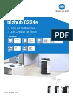 Bizhub C224e Datablad v2