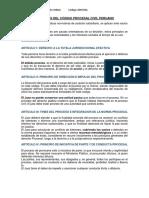 Principios Del Código Procesal Civil Peruano