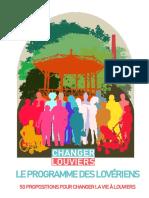 Programme des lovériens - première version