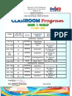 My Classroom & Teachers Program 2ND YEAR