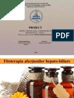 Fitoterapia Afecţiunilor Hepato-biliare