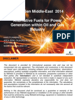 Alternative Fuels for Power Generation Within Oil and Gas Industry