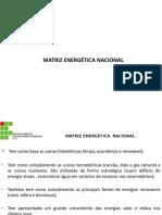 Matriz Energética e Geração Distribuída - Aula 3 - TDE