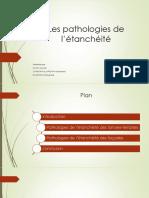 Les Pathologies de l'Étanchéité