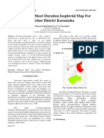 Modelling of Short Duration Isopluvial Map For Raichur District Karnataka
