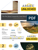 The Ten Most Frequently Used Words in the Quran
