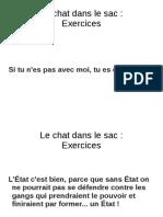 Chat Dans Le Sac Exercices 1