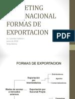 Tipos de Exportacion 2019