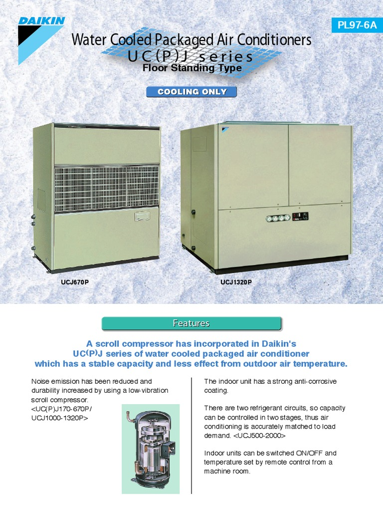 Water Cooled Type PL97 6A | Air Conditioning | Engineering