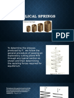 Helical Springs and Shear and Moment Diagram