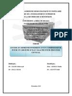 Etude Et Dimensionnement D'Un Compresseur Pour Un Groupe D'Eau Glacée Pour Proces Cevital