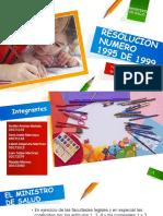 Resolucion Numero 1995 de 1999