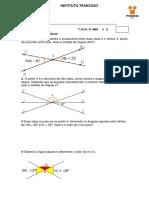 Atividade de ângulos oposto pelo vértice