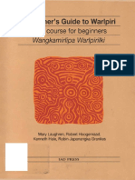 A Learners Guide to Warlpiri Tape Course for Beginners With Audio