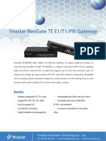 Yeastar TE Series PRI VoIP Gateways Datasheet En