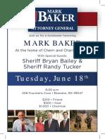 Mark Baker Fundraiser Jun 18