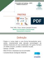 Formas Farmaceuticas Semisólidas - Pastas