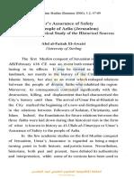 Hz.__mer'in Aelia(Beyt__lmakdis) Halk__na Verdi__i Emanname_ Tarihsel Kaynaklara Y__nelik Analitik Bir Ele__tiri[#306299]-294102.pdf