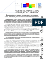 OIT. Discriminação No Trabalho Continua Sendo Um Problema Global Persistente, Com Novas e Mais Sutis Formas Emergindo. Conferência Internacional Do Trabalho, 91a. Reunião, 2003