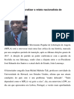 É Preciso Dessacralizar o Relato Nacionalista de Angola