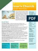 st saviours newsletter - 16 june 2019 - trinity sunday