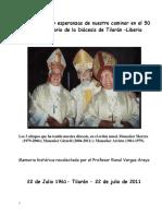 50 Años Diócesis de Tilarán Profesor Ronal Vargas Araya