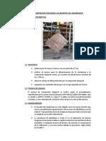 Ensayo de Compresion Diagonal Em Muretes de Albañileria 2019